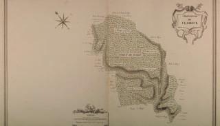 Carte de la forêt de Surgy (1789)
