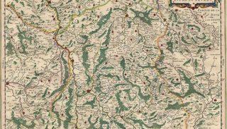 Carte du duché du Nivernais par Willem et Joan Blaeu
