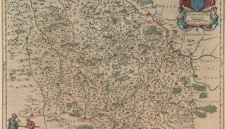 Carte du duché du Bourbonnais par Willem et Joan Blaeu