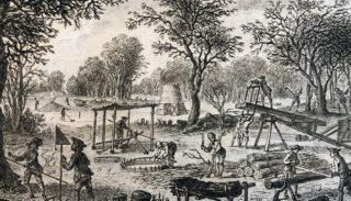 De l'exploitation des bois de Duhamel du Monceau et hache de martelage (18e siècle)